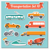Set of all types of transport icon  for creating your own infogr Royalty Free Stock Image