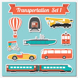 Set of all types of transport icon  for creating your own infogr Royalty Free Stock Photo