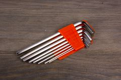 Hex Keys Stock Photos