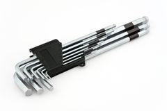 A set of Allen wrench Stock Images