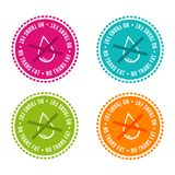 Set of Allergen free Badges. No trans fat. Vector hand drawn Signs. Can be used for packaging Design. Set of Allergen free Badges. No trans fat. Vector hand Royalty Free Stock Photos
