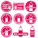 Set of allergen icons vector Royalty Free Stock Photos