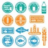 Set allergen ikony wektorowe Fotografia Stock