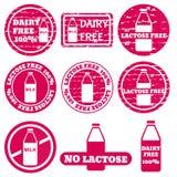 Set allergen ikony wektorowe Zdjęcia Royalty Free