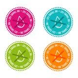 Set allergen uwalnia odznaki Żadny trans sadło Wektorowa ręka rysujący znaki Może używać dla pakować projekt Zdjęcia Royalty Free