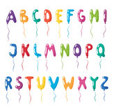 Set of alphabet balloons Stock Photo