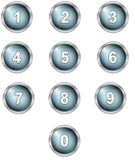 Set of alphabet buttons Royalty Free Stock Images