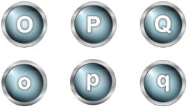 Set of alphabet buttons Royalty Free Stock Photo