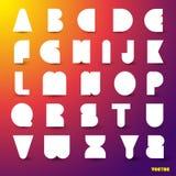 Set of alphabet. Royalty Free Stock Photo
