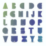Set of alphabet. Stock Photography