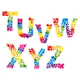 Set of alphabet elements. Made of bubbles.Illustration for your design Royalty Free Stock Photography