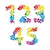 Set of alphabet elements. Made of bubbles.Illustration for your design stock illustration