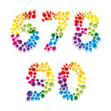 Set of alphabet elements. Made of bubbles.Illustration for your design Stock Photography