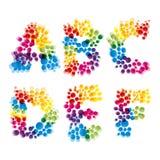 Set of alphabet elements. Made of bubbles.Illustration for your design vector illustration