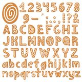 Set of alphabet holidays gingerbread cookies royalty free illustration