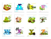 Set of Alphabet letters Royalty Free Stock Images