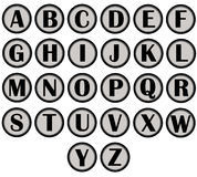 Alphabet letters. Set of 26 alphabet letters Royalty Free Stock Images