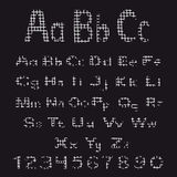 Set of alphabet letters and numbers. Stock Photo