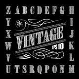 Set Alphabet Letters Vintage Western Vector Stock Image