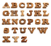 Set of Alphabet made from wood Stock Images