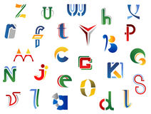 Set of alphabet symbols Royalty Free Stock Photos
