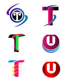 Set Of Alphabet Symbols And Elements Of Letter T, such a logo Stock Images