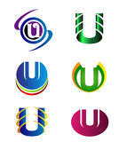 Set Of Alphabet Symbols And Elements Of Letter U, such a logo Royalty Free Stock Photography