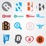 Set of alphabet symbols of letter B Royalty Free Stock Photography