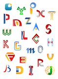 Set of alphabet symbols and letters Stock Photography