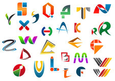 Set of alphabet symbols from A to Z Royalty Free Stock Photo
