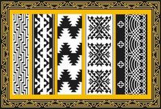 Set alte indianische Muster Lizenzfreie Stockbilder