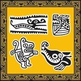 Set alte indianische Muster. Tiere. Stockfoto