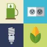 Set alternative energy icons Royalty Free Stock Photos