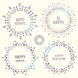 Set of amazing snowflakes Royalty Free Stock Images