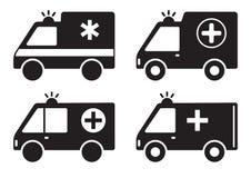Set of ambulance icon. Vector illustration stock illustration