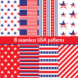 Set of American backgrounds Stock Images