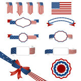 Set of american banners Royalty Free Stock Photo