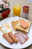 Set of american breakfast Stock Images