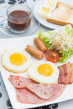 Set of american breakfast for morning Royalty Free Stock Images