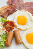 Set of american breakfast for morning Stock Image