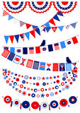 Set American decorations Royalty Free Stock Image