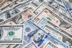 Set of american dollar Royalty Free Stock Images