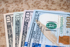 Set of american dollar Stock Photography