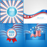 Set of american flag abstract background Royalty Free Stock Photos