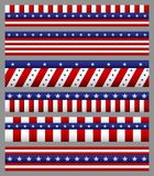 Set of american flag with stars and stripes patterns. USA Independence day festive. Illustration of Set of american flag with stars and stripes patterns. USA Stock Photo