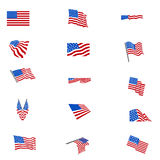Set of american flags FLAG