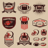 Set of the american football labels, emblems and design elements Royalty Free Stock Photography