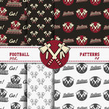 Set of american football patterns. Usa sports Stock Images