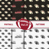 Set of american football patterns. Usa sports Royalty Free Stock Photography