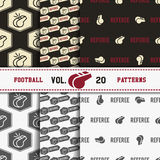 Set of american football patterns. Usa sports Stock Photography